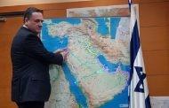 وزير النقل الإسرائيلي : يسرائيل كاتس يوضح مشروع ربط أسرائيل بالسعوديةموضحاََ بالخارطة