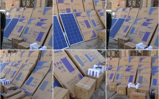 تزويد السجن المركزي بإب بمنظومة طاقة شمسية متكاملة وشاشات عرض تلفزيوني .