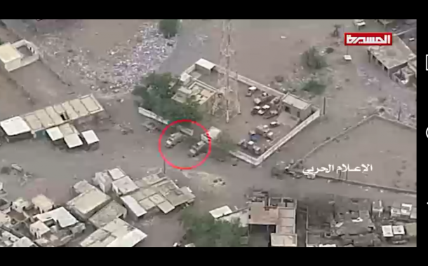 شاهد بالفيديو : عمليات نوعية لوحدة المدفعية بمشاركة وحدة الرصد التابعة للطيران المسير في الساحل الغربي