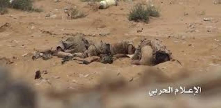 مصرع عشرات المرتزقة خلال زحوفات فاشلة وعملية نوعية للجيش واللجان بالجوف .