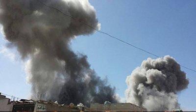 أستشهاد وأصابة 32 شخص ومجزرة يرتكبها طيران العدوان بصعدة .