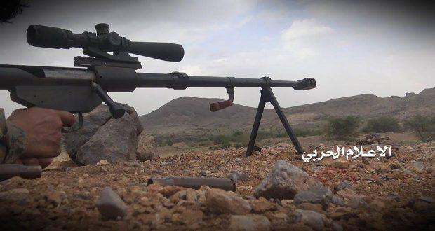 مصدر في وحدة القناصة: قنص أكثر من  85 مرتزقاً في مختلف الجبهات خلال الأسبوع الماضي بينهم 7 جنود سعوديون.